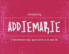"""Check out new work on my @Behance portfolio: """"AddieMarie Handlettered Font"""" http://be.net/gallery/49870501/AddieMarie-Handlettered-Font"""