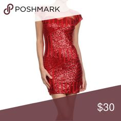 Red Sequin Dress Red sequin dress Dresses Mini