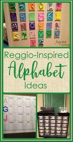 Reggio Inspired: The Alphabet l Fairy Dust Teaching #reggio #literacy #alphabet