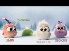 BTS as Angry Birds