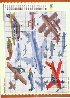 AVIONS Cross Stitch For Kids, Cross Stitch Boards, Cross Stitch Baby, Counted Cross Stitch Patterns, Cross Stitch Designs, Cross Stitch Embroidery, Stitch Book, Sewing Art, Le Point