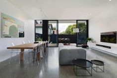 Cube House Kew by Carr Design Group Terraced House, White Houses, Dining Room Design, Dining Rooms, House And Home Magazine, Victorian Homes, Interior Architecture, Living Spaces, Modern Design