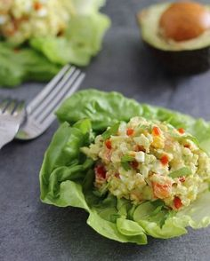 Creamy Avocado Sriracha Egg Salad by runningtothekitchen: A spicy twist to a healthy lunch. #Egg_Salad #Avocado #Sriracha