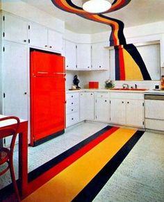 1970s Home Decor: Nostalgia or Nausea? You Decide.: Giant Stripes