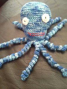 """Dit is het inktvisje """" Bob """" gemaakt door Lea."""