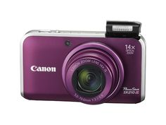 Canon PowerShot MP Digital Camera with Wide Angle Optical Image Stabilized Zoom and LCD (Purple). Canon PowerShot IS Point & Shoot Digital Camera - Megapixel - Active Matrix TFT Color LCD - Purple Digital Cameras. Canon Elph, Canon Powershot Elph, Best Vlogging Camera, Best Digital Camera, Digital Cameras, Canon Digital, Ultra Wide Angle Lens, Cameras Nikon, Canon Zoom Lens