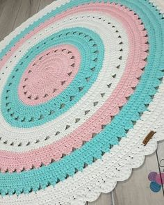 Crochet rug patterns crochet tablecloth, crochet и crochet m Crochet Daisy, Crochet Mandala, Thread Crochet, Crochet Motif, Crochet Doilies, Crochet Stitches, Weaving Projects, Crochet Projects, Knit Rug