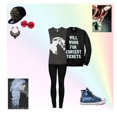 """""""."""" by oosammyoo on Polyvore featuring Mode, Converse, MANGO, 2LUV, New Era und New Look"""