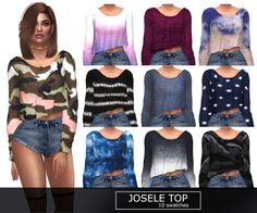 Josele Top at Kenzar Sims • Sims 4 Updates