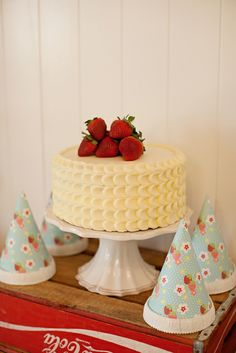 """Photo 17 of 29: Strawberry Shortcake and Strawberries / Birthday """"Berry Sweet Strawberry Birthday Party""""   Catch My Party"""