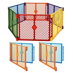 North States Superyard Colored Play Door With 2 Panel