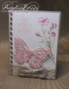 Stampin' Up! Butterfly Thinlits, Butterfly Basics - Angela Lorenz