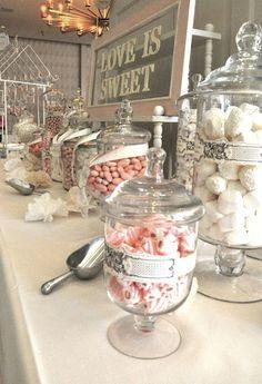 Dessert Table Ideas for Wedding - Wedding Philippines Dessert Dips, Buffet Dessert, Lolly Buffet, Candy Buffet, Wedding Candy Table, Sweet Table Wedding, Wedding Sweets, Bar A Bonbon, Sweet Bar