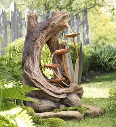 Woodland Stump Fountain in Indoor Fountains