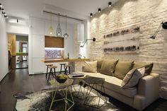 Маленькая квартира: 40 метров для одного в дореволюционном доме: Квартиры в стилях Лофт, Минимализм, город Киев   Архидея