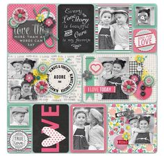 Inspiration for keeping a scrapbook. Photos, journal cards, and page layouts Project Life Baby, Project Life Album, Project Life Layouts, Project Life Cards, Scrapbook Sketches, Scrapbook Page Layouts, Scrapbook Pages, Scrapbook Photos, Scrapbook Templates