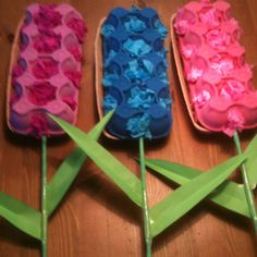Egg carton flowers art project