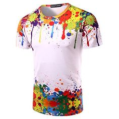 Whatlees Mens Hip Hop Slim Fit T-shirts with Colorful 3D Print Caution: The correct size   Size Guide   Size S Shoulder: 44cm Chest: 46cm Length: 65cm  Size M Shoulder: 46cm Chest: 48cm Length: 69cm  Size L Shoulder: 47cm Chest: 50cm Length: 71cm  size XL shoulders: 49cm chest: 52cm length: 73cmPIZOFF menswear shuts down the new season with the latest trends and the coolest products, designed in USA and sold across the world. Update your go-to garms with the new shapes and f