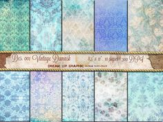 Digital SHABBY CHICH paper Antique paper by DreamUpGraphic on Etsy