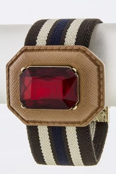 Oversized Jeweled Accent Bracelet