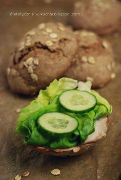 Moje Dietetyczne Fanaberie: Bułki grahamki, prosty przepis bez cukru