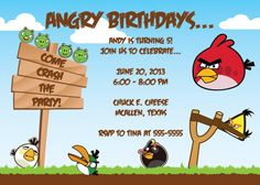 Click Here To Download FREE Printable Angry Birds Birthday - Party invitation template: angry birds birthday party invitation template free