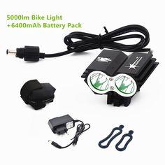 SolarStorm X2 U2 5000Lm Wasserdichte LED Fahrrad Licht Led-scheinwerfer Lampe Taschenlampe Mit Akku + Ladegerät