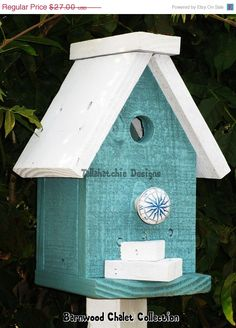 25% Off Today Birdhouse Barnwood Birdhouse Chalet Birdhouse Colorful Birdhouse Chickadee Birdhouse  Order by Dec 18th to get it B4 Xmas.