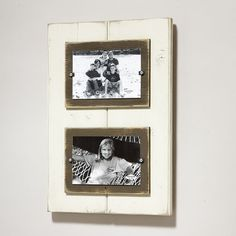 Matchstix.com for rustic and distressed picture frames is a great selection of colors - Double 4x6 Frames, $74.00 (http://www.matchstix.com/double-4x6-frames/)