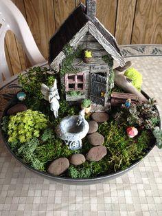 Mother daughter fairy garden creation :) #fairy #fairygarden #gardens #creeksidegardens