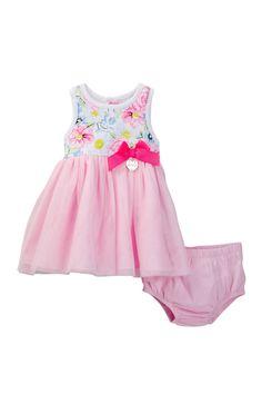 Floral Top Dress & Bloomer Set (Baby Girls 12-24M)