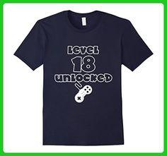Mens 18th Birthday Shirt Gifts - Level 18 Unlocked Shirt XL Navy - Birthday shirts (*Amazon Partner-Link)