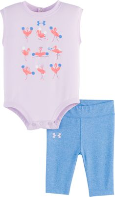 One-pieces Capable Baby Girls Romper 0-3 Months Pink Multicolor Mon Cheri Clothing, Shoes & Accessories