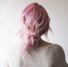 Pink wavy updo by Mandie Lynn
