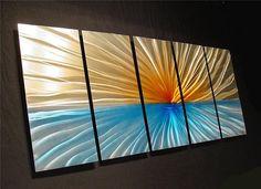 Abstract Metal Wall Art Original Painting a by LagunaOriginals