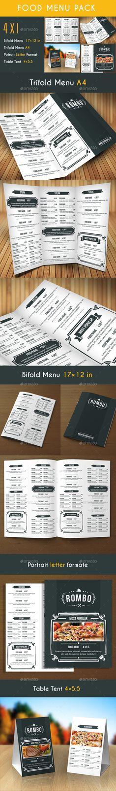 Retro Food Menu Pack - Food Menus Print Templates