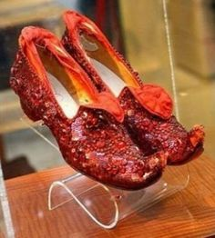 Ruby Slippers from House of Harry Winston: $3.000.000  Designed for the 50th anniversary of Wizard of Oz  with 4,600 rubies weighing 1,350k. The first fortunate lady who used the shoes was Judy Garland.