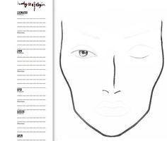 Makeup by Angel: Blank Face Charts Mac Makeup, Makeup Tips, Makeup Ideas, Eye Shape Chart, Mac Face Charts, Face Template, Makeup Face Charts, Make Up Tutorials, Maquillaje Halloween