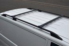 Black Cross Bar Rail Set For Roof Bars To Fit Volkswagen Transporter - Autoline Accessories Limited Volkswagen T5 Transporter, Van Roof Racks, Bar Rail, Camper, Fitness, Accessories, Black, Caravan, Black People