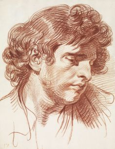 Drawing by Jean-Baptiste Greuze Drawing Heads, Life Drawing, Figure Drawing, Drawing Sketches, Painting & Drawing, Drawing School, Portrait Sketches, Pencil Portrait, Portrait Art