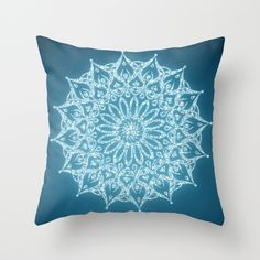 Zen Mandala (Serenity) Throw Pillow