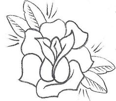 Simple+Outline+Drawings | rose tattoo,rose stencil,single rose tattoo,rose tattoo design,one ...