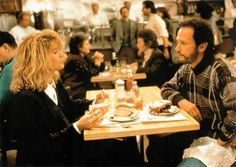 """When Harry Met Sally - """"I'd like the apple pie al a mode but I'd like the pie heated. And I'd like strawberry instead of vanilla if you have it. If you don't, then no ice cream, just whipped cream. But only if it's real. If it's out of a can, then nothing.""""  """"Not even the pie?""""  """"No, just the pie but then not heated."""""""