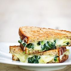 Spinach Artichoke Grilled Cheese    To make IC Friendly remove Sour cream or consider replacing with cottage cheese?