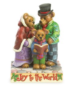 Another great find on #zulily! Bear Carolers Figurine #zulilyfinds