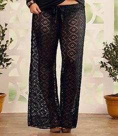 Plus-Size Swim Cover-Ups: Lace Beach Pants, Sizes XL-2X | ElegantPlus.com Editor's Picks