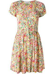CACHAREL VINTAGE Floral Print Skater Dress
