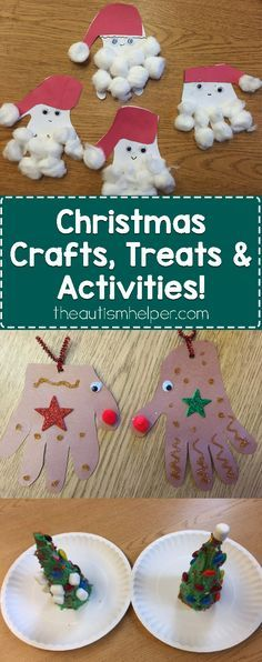Don't forget the delicious, fun & clever Christmas crafts that pair perfectly with Sarah's adapted books! Get your December rockin' on the blog!! From theautismhelper.com #theautismhelper