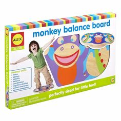 ALEX Toys Active Monkey Balance Board New Toy Ages Play Sports Boys Girls Fun for sale online Alex Toys, Kids Up, Big Kids, Balance Board, Adhd Kids, Gross Motor Skills, Top Toys, Old Boys, Educational Toys