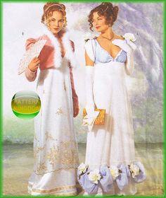 Butterick 6631 Titanic Style Regency Era Empire Dress Patterns